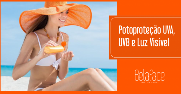 Proteção UVA UVB Luz Visível